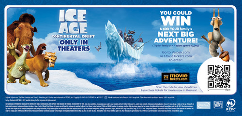 Valpak® Teams with Ice Age for Family Vacation Sweepstakes