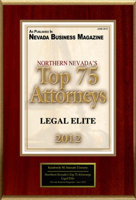 "Kimberly M. Surratt Selected For ""Northern Nevada's Top 75 Attorneys"".  (PRNewsFoto/American Registry)"
