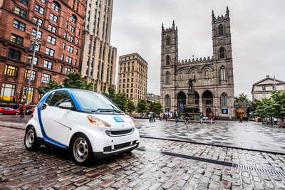car2go autopartage Introduces a New Way of Carsharing in Montreal.