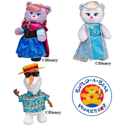 Build-A-Bear Workshop's Elsa Bear, Anna Bear and Olaf from Disney's FROZEN 2014 (C)Build-A-Bear Workshop (C)Disney