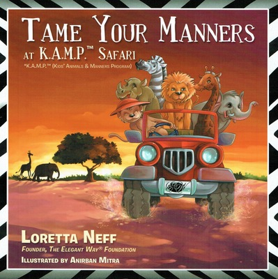 Tame Your Manners at K.A.M.P. Safari Book Cover (PRNewsFoto/The Elegant Way Foundation)