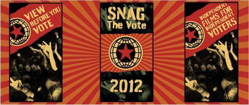 Snag The Vote 2012 Poster Designed by Shepard Fairey.  (PRNewsFoto/SnagFilms)