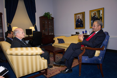 Congressman Fattah Advances His Science Agenda with Dr. William Brinkman from the Department of Energy.  (PRNewsFoto/Office of Congressman Chaka Fattah)