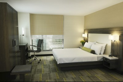 Guest room at the Hilton Garden Inn Times Square Central
