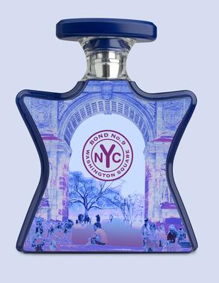 Para el animado lanzamiento del agua de perfume Bond No. 9, a tiempo para las fiestas, la inspiración es Washington Square, esa abierta área verde con canchas de bochas, mesas de ajedrez, Scrabble Zone y (no lo olviden) su propio Arco del Triunfo