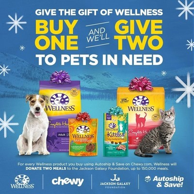 Wellness Natural Pet Food and the Jackson Galaxy FoundationGive the Gift of Wellness to Shelter Pets