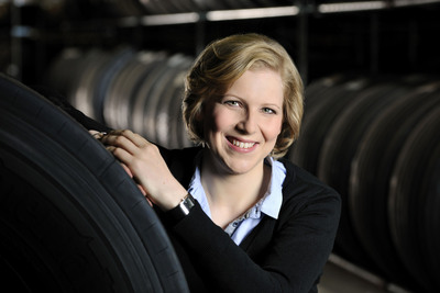 Franziska Neef, group leader Research & Development Retreading Commercial Vehicle Tires at international tire manufacturer and automotive supplier Continental.  (PRNewsFoto/Continental Tire North America, Inc.)