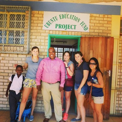 Experian Data Quality employees with Ubuntu Education Fund in Port Elizabeth, South Africa