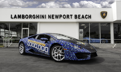 Lamborghini Newport Beach reaches 1 million Facebook Likes.