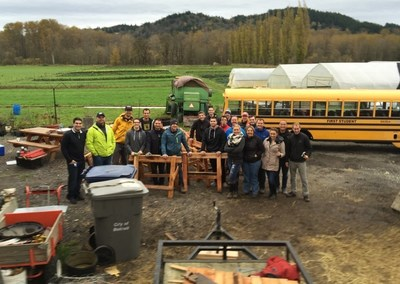 Seattle DocuSign Employees Build Sawhorses For Sodbusters On The Chinook Farm In Washington