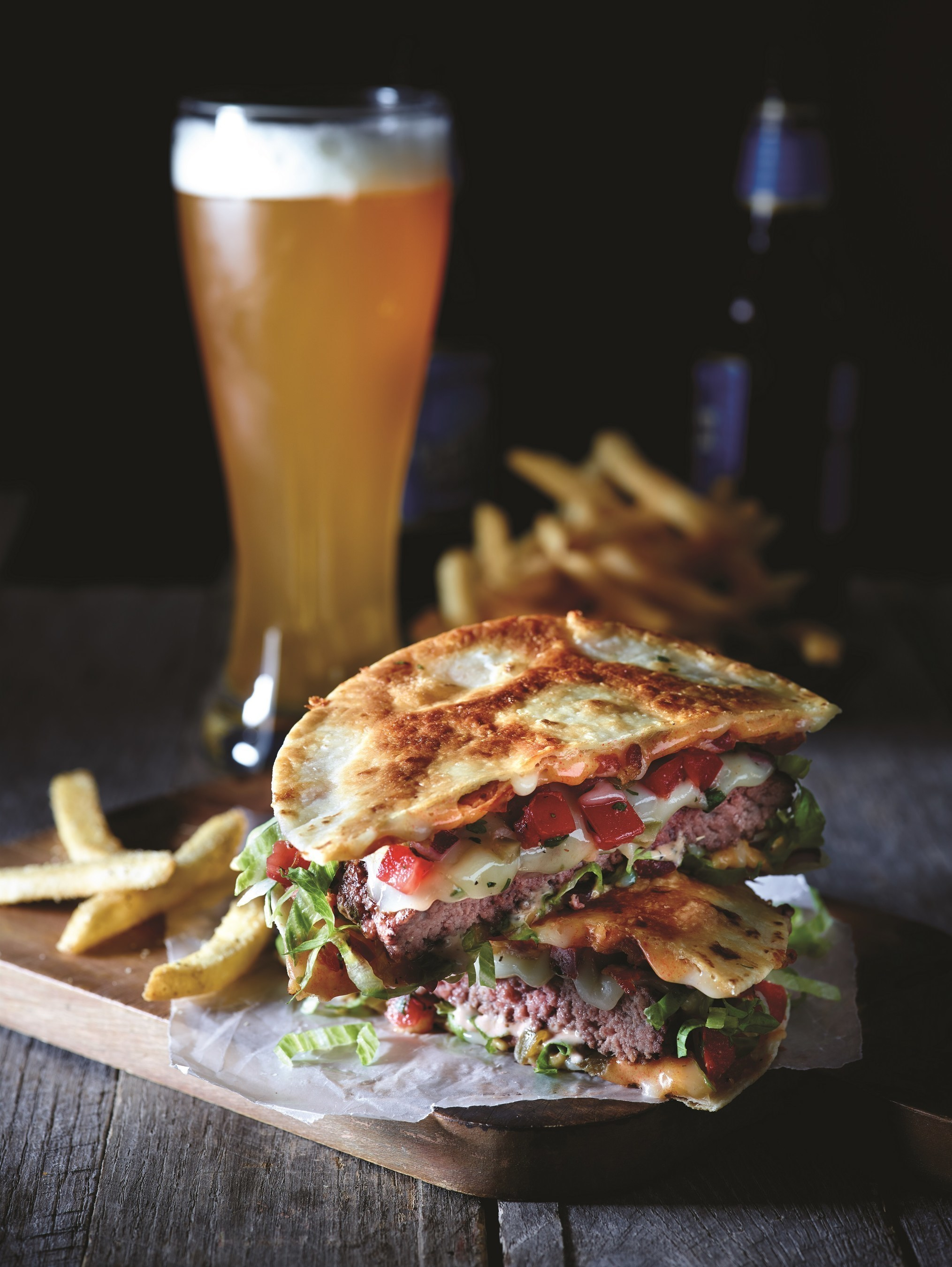 The Quesadilla Burger - cooked with fresh, never frozen, USDA inspected ground chuck and freshly prepared Pico de Gallo - is now available as part of the Applebee's 2 for $20 menu.