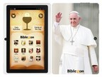 A Special Biblezon Catholic Tablet made for Pope Francis.