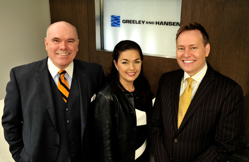 Greeley and Hansen's Andy Richardson, Chairman and CEO (from left), with newly elected Independent Director  ...