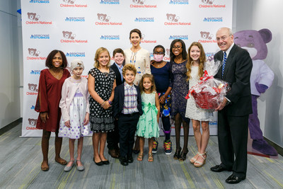 HRH The Crown Princess of Denmark visits Children's National Health System's Seacrest Studios, meeting with patients and Kurt Newman, MD, President and CEO.