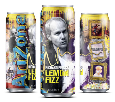"AriZona's ""Lemon Fizz,"" designed with artist Richard Prince.  (PRNewsFoto/AriZona Beverages)"