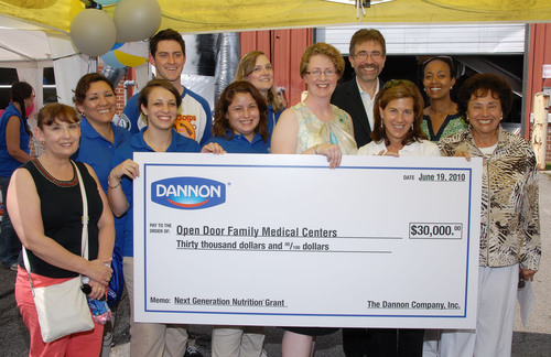 The Dannon Company Awards Open Door Family Medical Centers of Westchester County the Fifth Annual