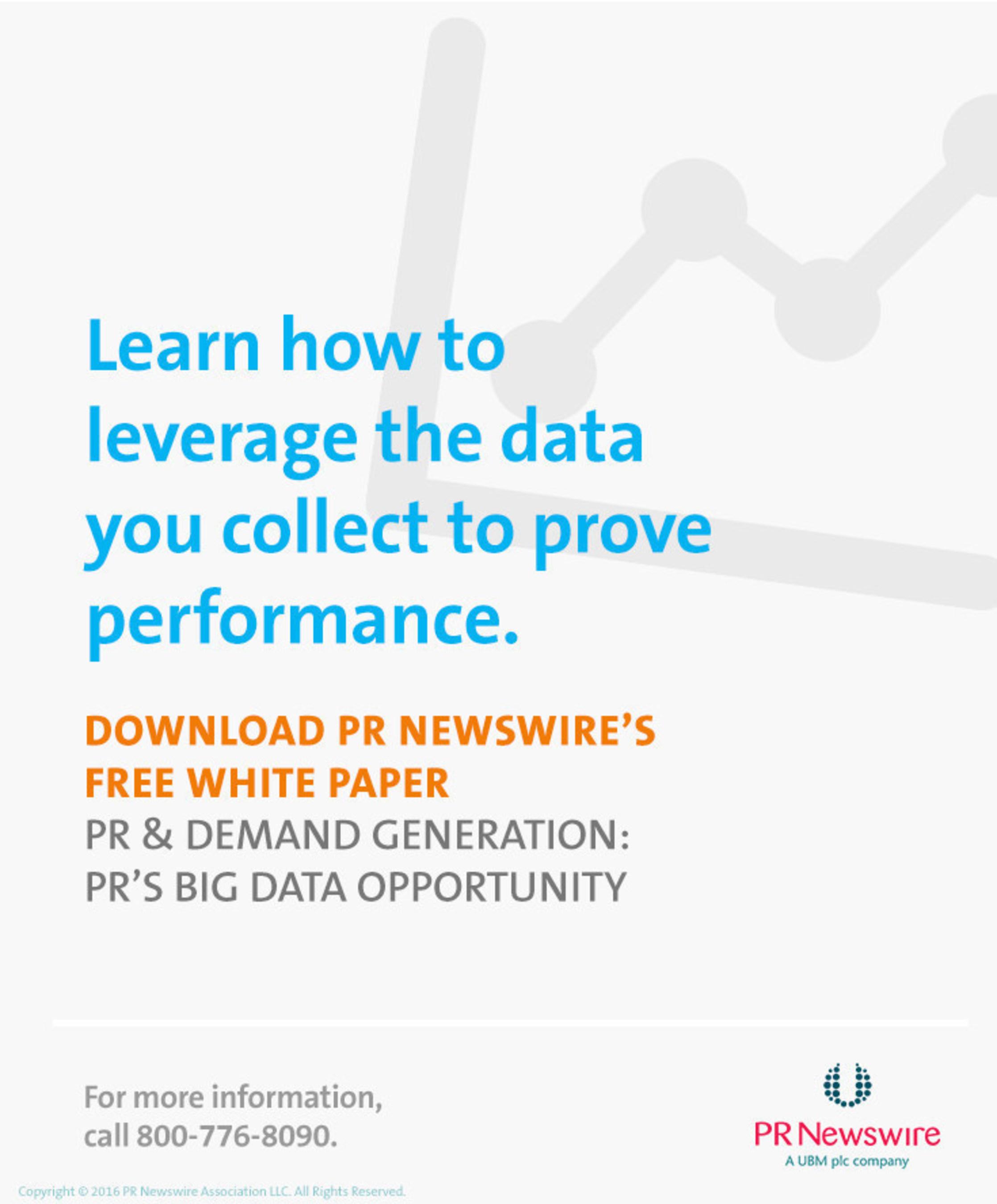 PR Newswire White Paper Helps PR Professionals Use Big Data to Create Successful Campaigns