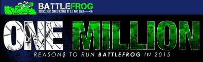 In a major first for the sport of obstacle course racing, leaders of BattleFrog, the OCR company founded by former U.S. Navy SEALs, have announced it will award over $1 million in cash and prizes to competitors during its 2015 racing season. BattleFrog is also announcing the creation of the new Team BattleFrog, a pro team that will be led by the top OCR athletes in North America.