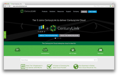 "Tier 3's cloud platform is immediately available as ""CenturyLink Cloud"" at www.centurylinkcloud.com. (PRNewsFoto/CenturyLink, Inc.) (PRNewsFoto/CENTURYLINK, INC.)"