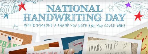 Pentel of America National Handwriting Day.  (PRNewsFoto/Pentel of America)