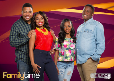 The fourth season of the hit Bounce TV series Family Time premieres Tues. Oct. 4, 2016 with new episodes every Tuesday night at 9:00 p.m. ET. Family Time comedically chronicles the lives of the Stallworth family, headed by Omar Gooding as Tony and Angell Conwell as Lisa (Left). When not battling each other, they are contending with a host of family, friends, and neighbors including their mischievous children, played by Jayla Calhoun and Bentley Kyle Evans, Jr. (Right), Tony's financially-challenged best friend (Clayton Thomas) and Lisa's feisty sisters Rachel (Tanjareen Thomas) and Lori (Paula Jai Parker).
