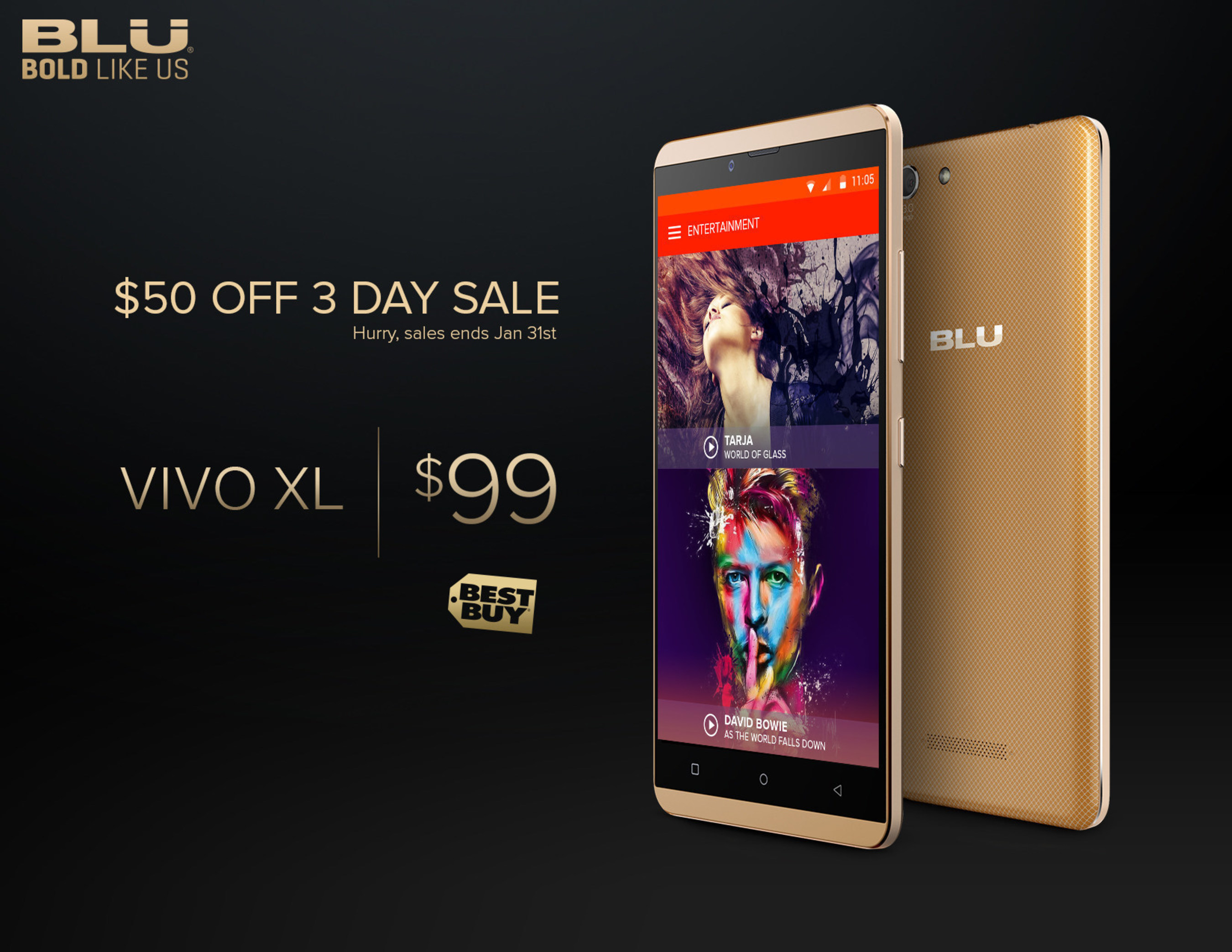 BLU Celebrates Availability of Latest BLU Vivo XL Smartphone with $50 Rebate - Limited Time Offer,