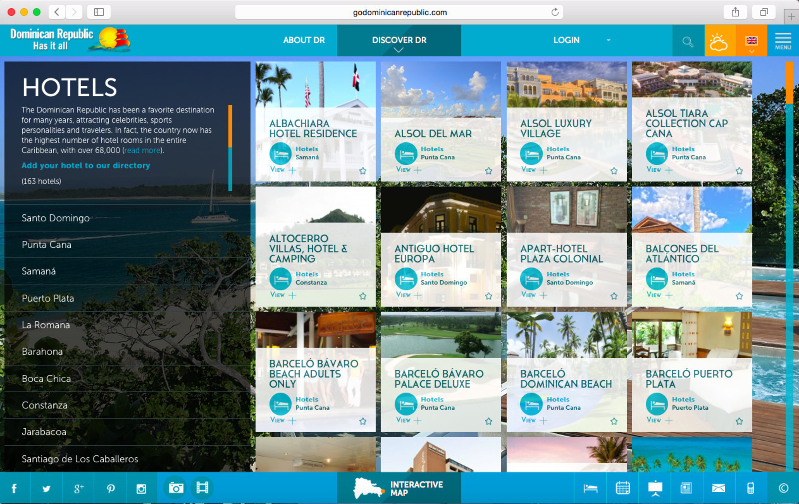 GoDominicanRepublic.com's brand-new interactive hotel directory, one of the main site updates, was created to give guests researching their travels the best opportunity to find accommodations perfectly suited to their needs among the country's nearly 70,000 available hotel rooms. Optimized for mobile, hotels are profiled by location, nearest airport, resort size, family-friendliness, all-inclusive amenities, meal plan offerings, deluxe designations, wedding facilities, golf facilities, pet-friendliness and much more.