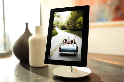 Xperia Tablet S with docking stand.  (PRNewsFoto/Sony Electronics, Inc.)
