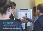 Veloxity cell phone charging kiosk