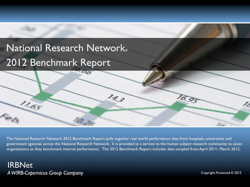 WIRB-Copernicus Group Announces Release of IRBNet National Research Network(R) 2012 Benchmark Report.  ...