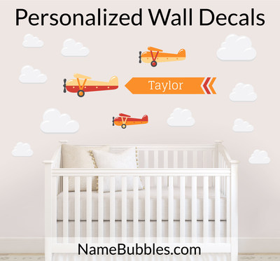 Personalized Wall Decals from NameBubbles.com Makes Decorating Your Child's Room a Whole Lot Easier. (PRNewsFoto/Name Bubbles)