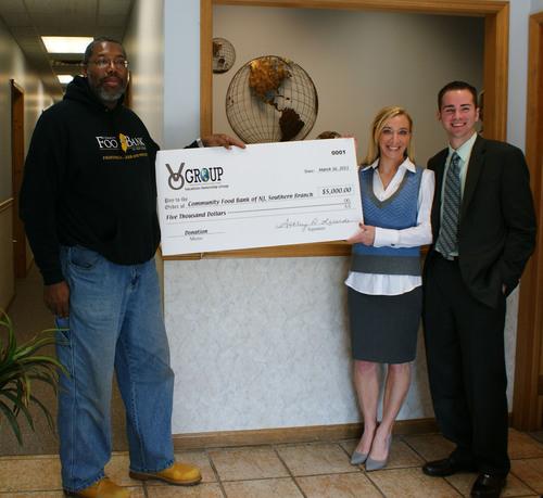V O Group Donates Generously to Community Food Bank