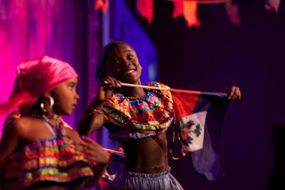 Feet of Rhythm performs at Happy Hearts Fund Land of Dreams: Haiti gala on Nov. 5, 2011 in New York City.  (PRNewsFoto/Happy Hearts Fund)