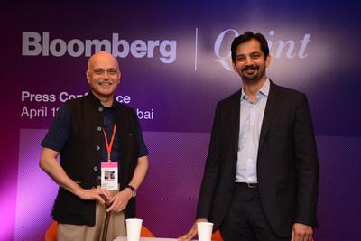 Raghav Bahl, Founder of Quintillion Media & Parry Ravindranthan, MD, Bloomberg Media International