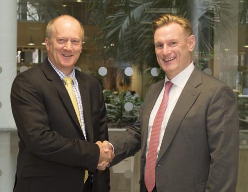 L-R John Clarke, the NDA's CEO, with Tom Samson, NuGen's CEO (PRNewsFoto/NuGen) (PRNewsFoto/NuGen)