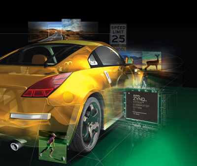 Advanced driver assistance systems are rapidly evolving, thanks to ingenious engineering and devices such as Xilinx's Zynq(TM)-7000 All Programmable SoC, which allows automakers to address both technical challenges and business goals in designs to increase driver awareness.  (PRNewsFoto/Xilinx, Inc.)