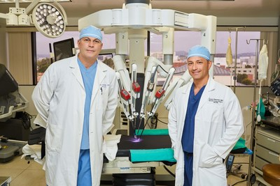 Chairmen of Gynecology Dr. David Ghozland and Dr. Edwin Ramirez with the da Vinci(R) Xi (TM) Surgical System