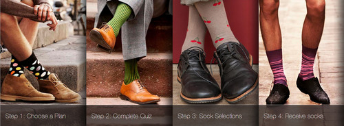 Zoraab Kit: Monthly Sock Subscription Service for men's fashion socks.  (PRNewsFoto/Zoraab)
