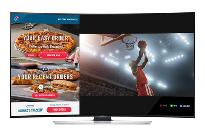 You can now order and track your pizza from Domino's through your Samsung Smart TV.
