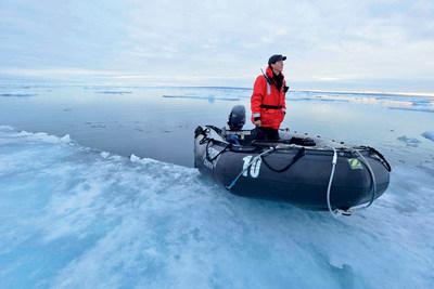 Zodiac landing in the Arctic (PRNewsFoto/Crystal Cruises)