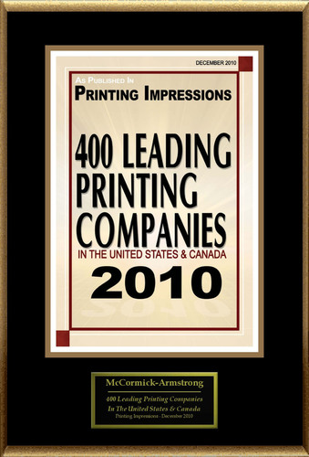 McCormick-Armstrong Selected For \'400 Leading Printing Companies In ...