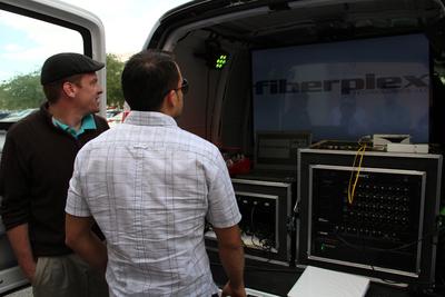 The FiberPlex fiber optic-ready production van will roll from AV lighting.  (PRNewsFoto/FiberPlex Technologies, LLC)