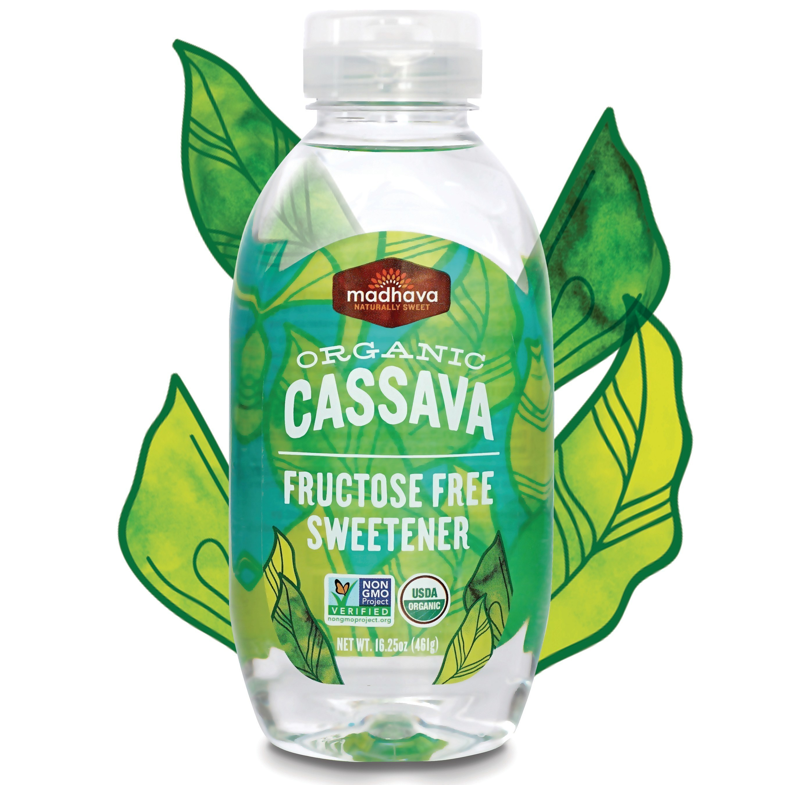 Madhava's Organic Cassava is a fructose free sweetener made from the root of the cassava plant and adds natural sweetness to your favorite foods and beverages.