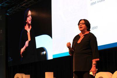 Vanitha Narayanan, MD - IBM India, speaking at IBM DeveloperConnect