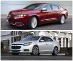 The attractive 2015 models of the Chevy Impala (top) and Malibu have now arrived at Robbins Chevy, and are available to test drive today! (PRNewsFoto/Robbins Chevy)