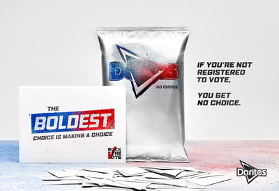 Doritos' Partnership with Rock the Vote and Limited-Edition Bags Rally Millennial Voters - a Rapidly Growing Voting Contingent - to Take a Stand, Make a Choice and Vote