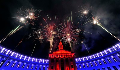Denver's Independence Eve Fireworks. Credit Evan Semon
