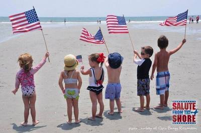 The 2014 Salute from the Shore flyover returns for its fifth year to the shores of South Carolina on Independence Day. (PRNewsFoto/Myrtle Beach Area Chamber of ...)