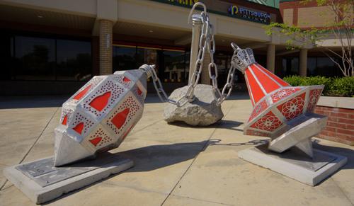 Morrison Studio's Outdoor Installation in July - Midwest Sculpture Initiative - Canton, Michigan