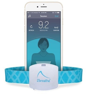 2breathe uses smart, connected technology to deliver the ancient wisdom of sleep-inducing breathing exercises in an easy and effective manner. Available now at www.2breathe.com